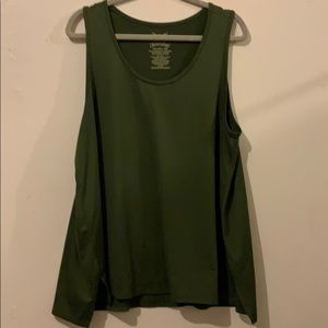 Green sleeveless shirt